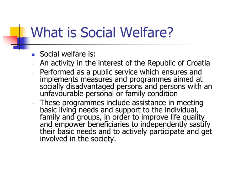 What is Social Welfare?