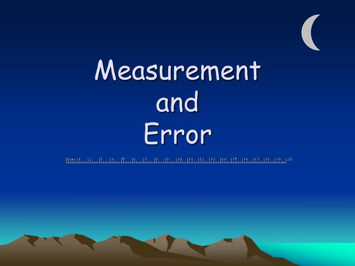 measurement and error n.