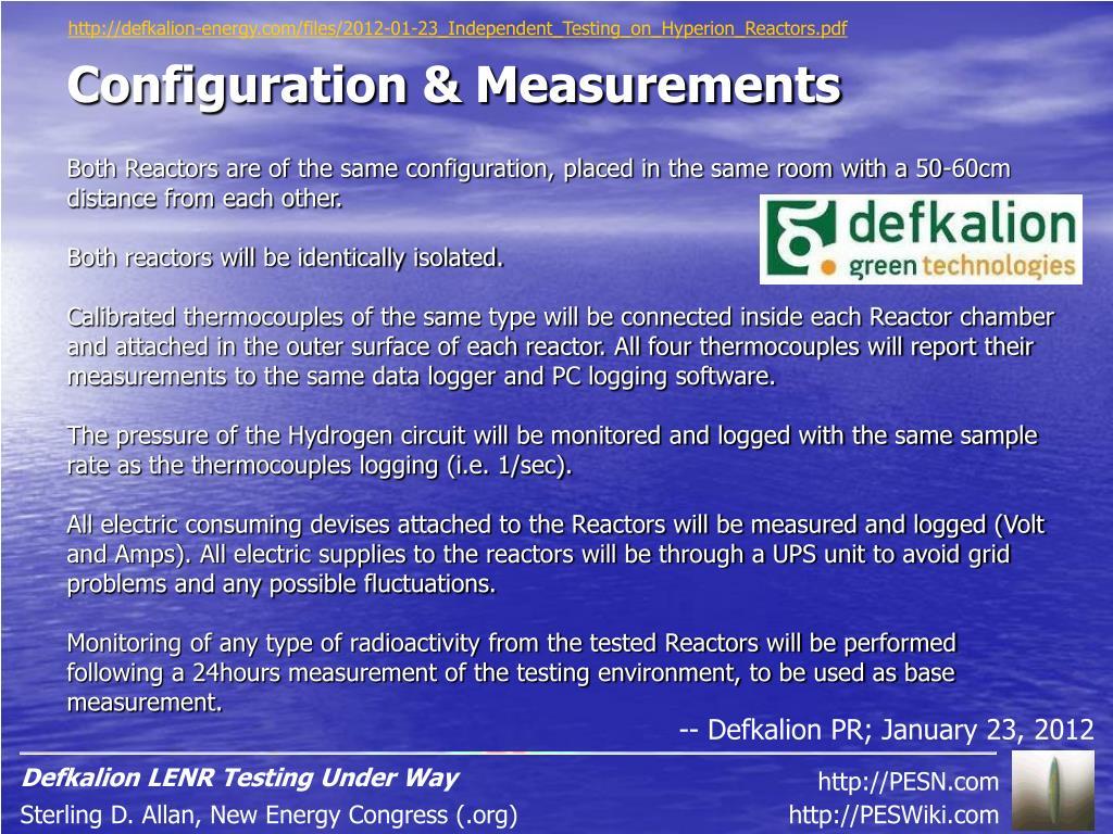 PPT - Defkalion LENR Testing Under Way PowerPoint