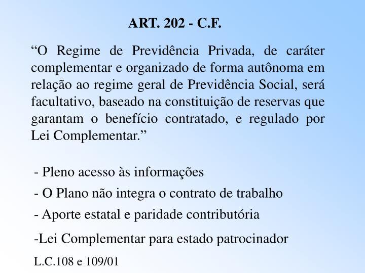 ART. 202 - C.F.