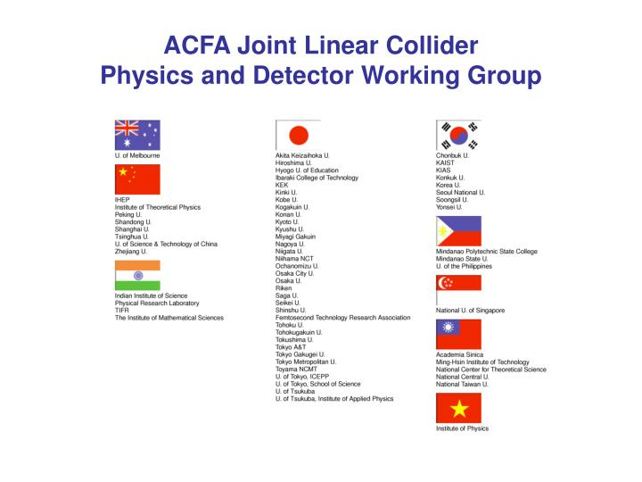ACFA Joint Linear Collider