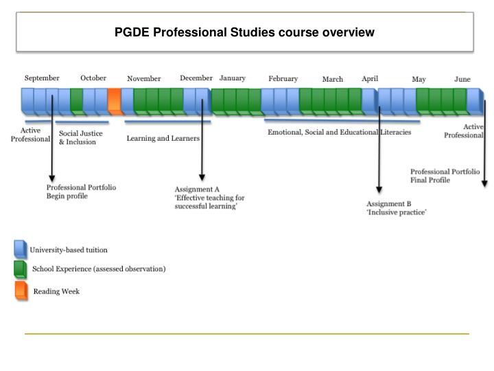 PGDE Professional Studies course overview