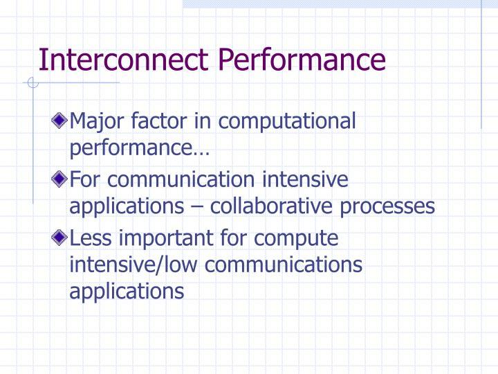Interconnect performance