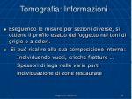 tomografia informazioni