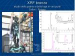 xrf bronzo studio della patina e della lega in vari punti cellini perseo