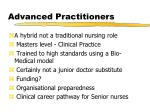 advanced practitioners