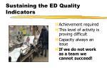 sustaining the ed quality indicators