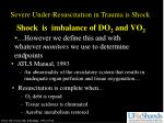 shock is imbalance of do 2 and vo 2