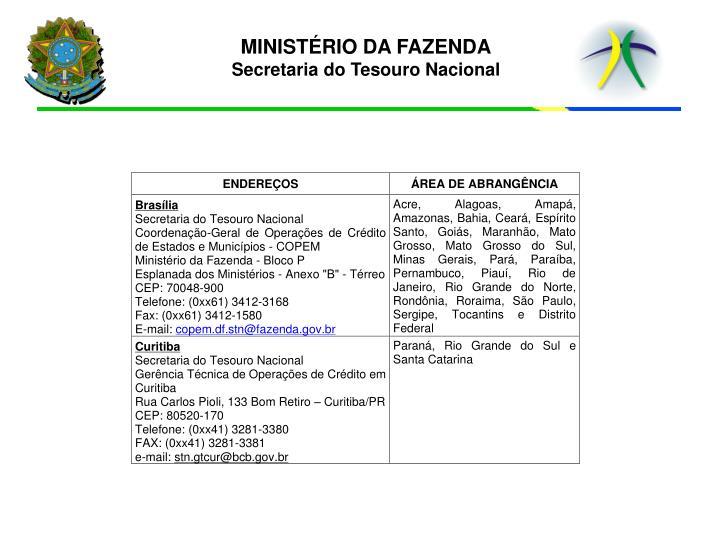 MINISTÉRIO DA FAZENDA