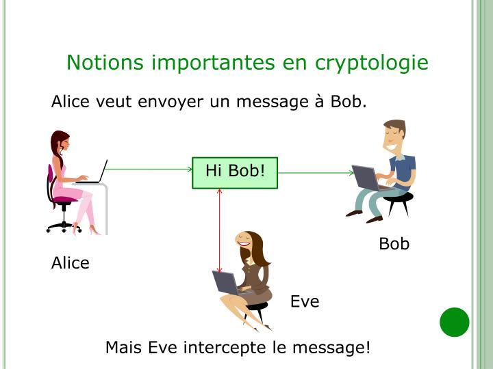 Notions importantes en cryptologie