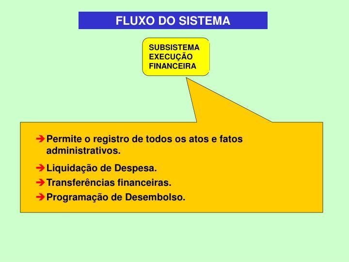 FLUXO DO SISTEMA