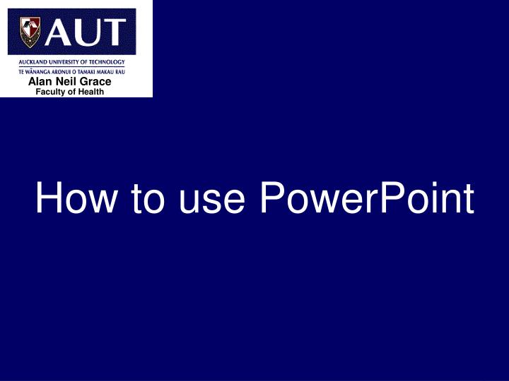 how to use powerpoint n.