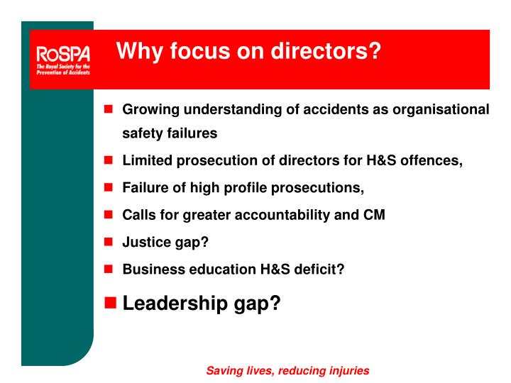 Why focus on directors?