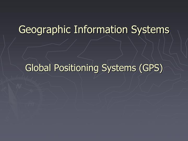 geographic information systems n.