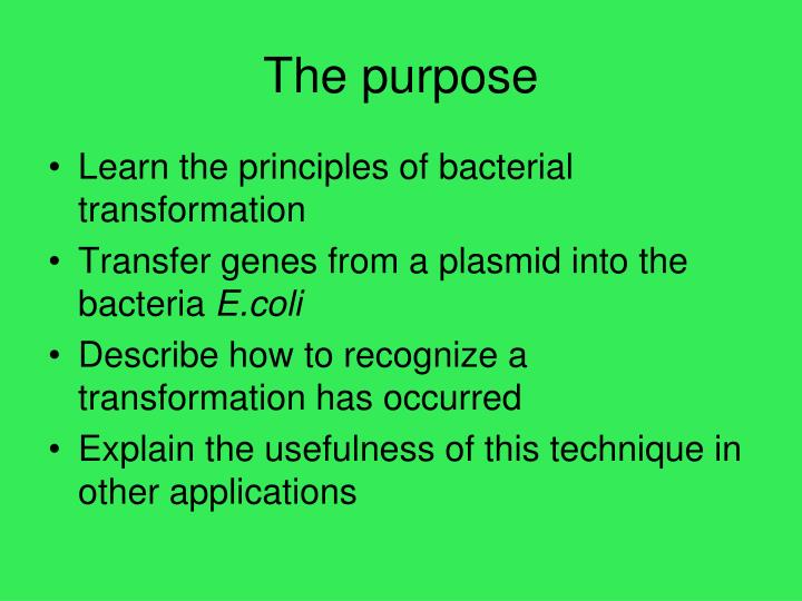 a lab report paper on pglo bacterial transformation kit essay Biotechnology explorer™ pglo™ bacterial introduction to transformation in this lab 166-0555edu pglo bacterial transformation kit refill package.