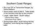 southern coast ranges