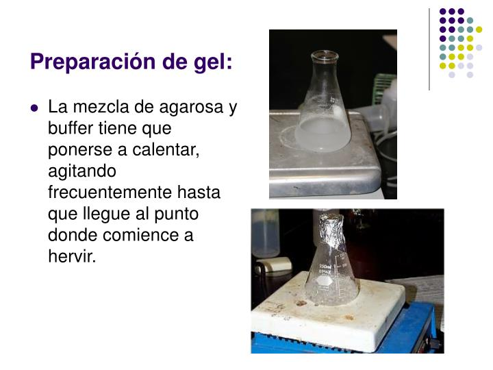 Preparación de gel: