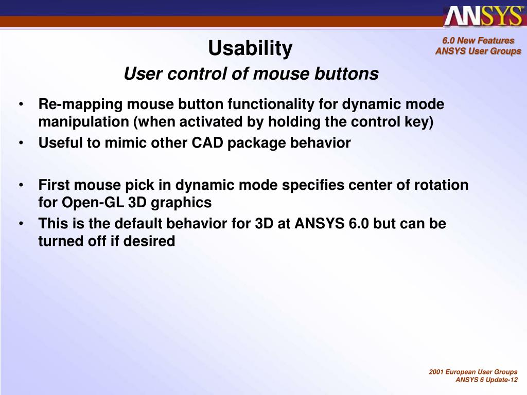 PPT - ANSYS 6 0 New Features PowerPoint Presentation - ID