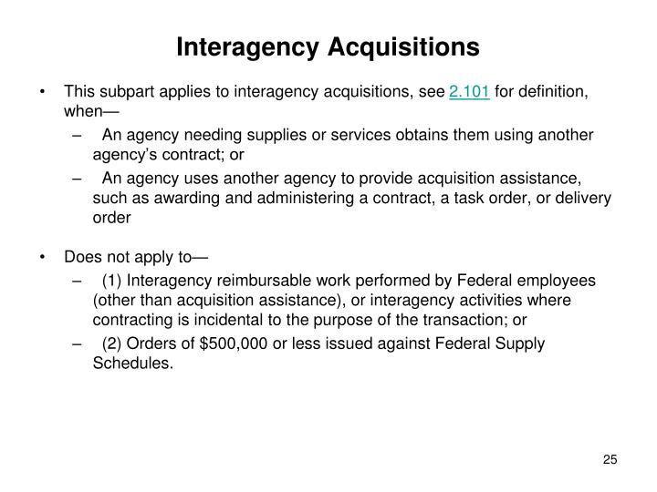 Interagency Acquisitions