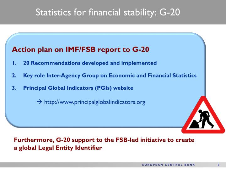 Statistics for financial stability: G-20