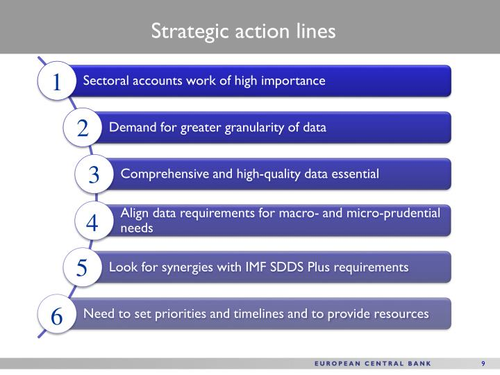 Strategic action lines