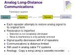 analog long distance communications
