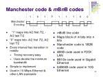 manchester code m b n b codes