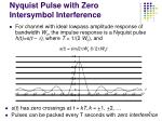 nyquist pulse with zero intersymbol interference