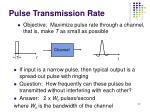 pulse transmission rate