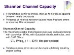 shannon channel capacity1