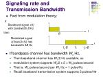 signaling rate and transmission bandwidth