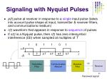 signaling with nyquist pulses