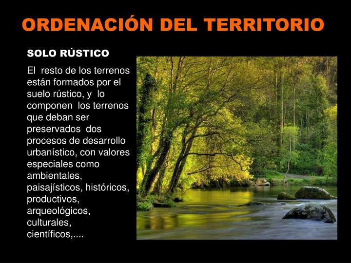 ORDENACIÓN DEL TERRITORIO