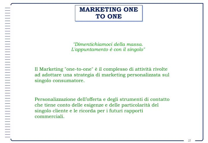 MARKETING ONE TO ONE