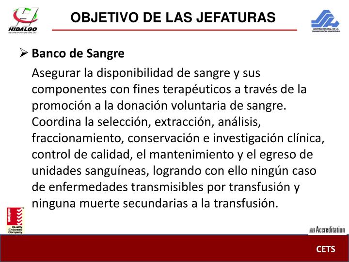 OBJETIVO DE LAS JEFATURAS