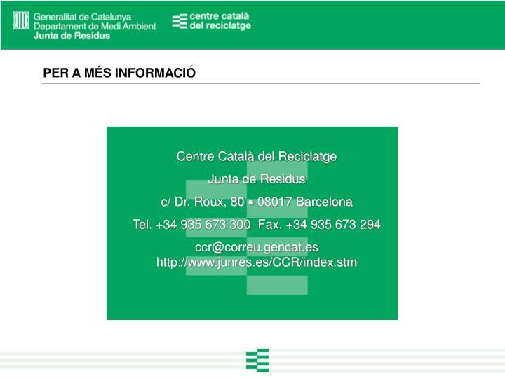 Centre Català del Reciclatge