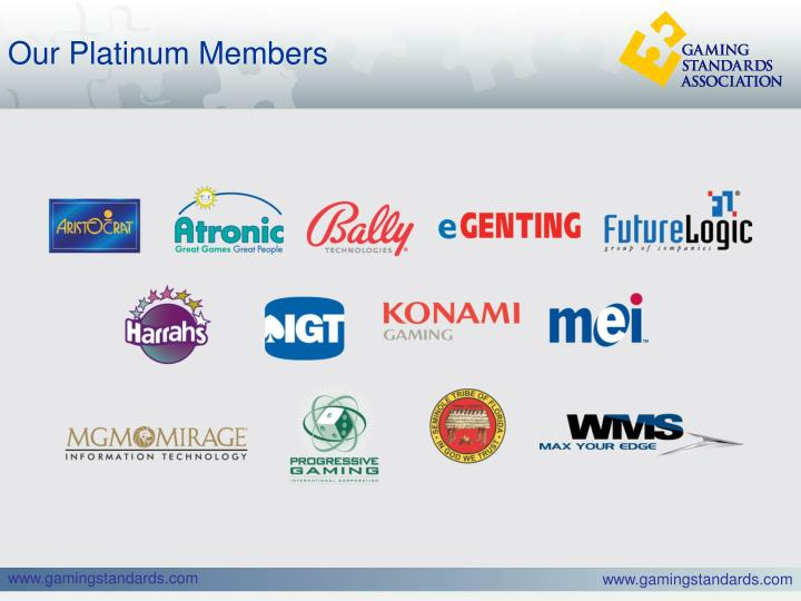 Our Platinum Members