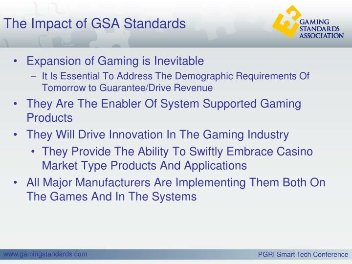 The Impact of GSA Standards