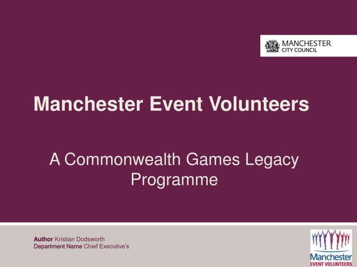 Manchester Event Volunteers