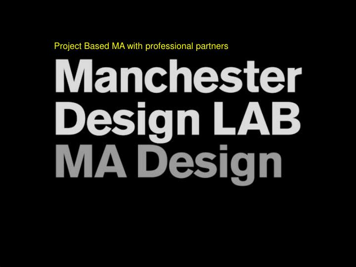 Project Based MA with professional partners