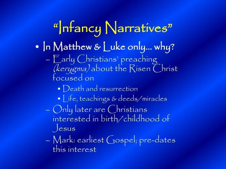 """Infancy Narratives"""