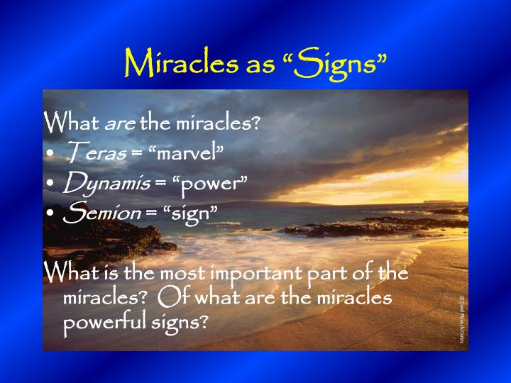 """Miracles as """"Signs"""""""