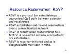 resource reservation rsvp