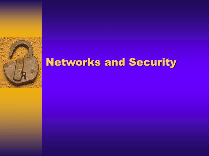 networks and security n.