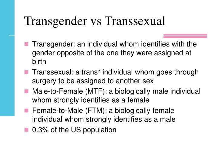 Trans gender vs trans sexual