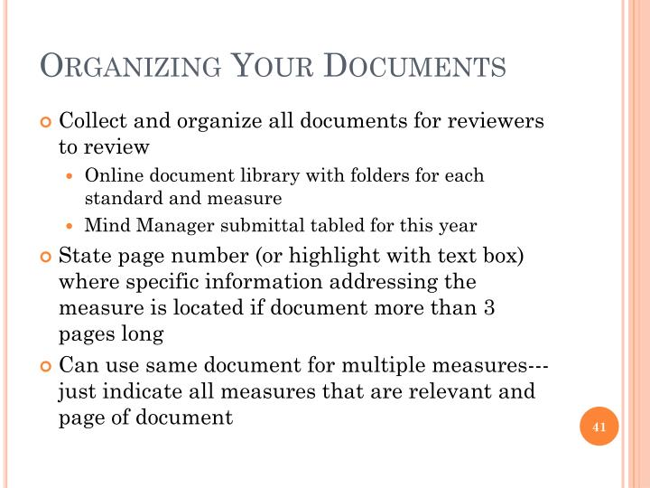 Organizing Your Documents