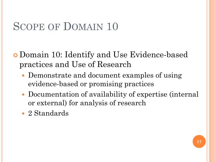 Scope of Domain 10