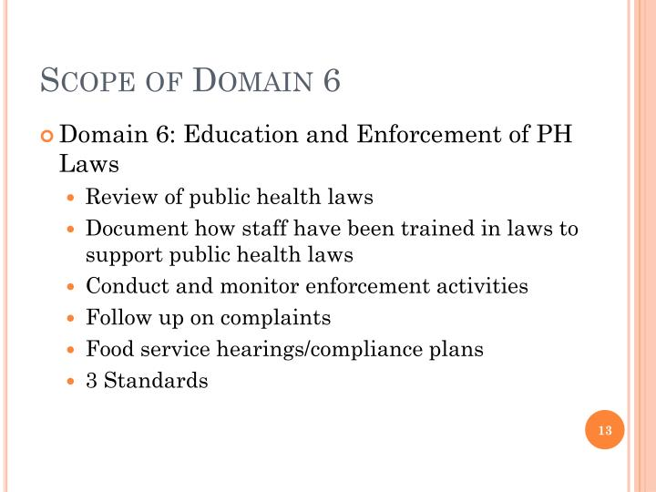 Scope of Domain 6