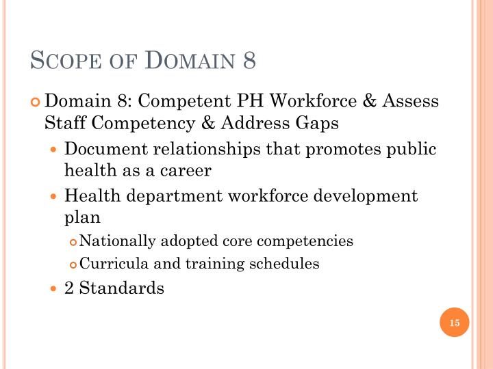 Scope of Domain 8
