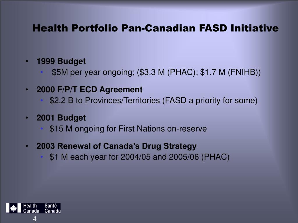 Ppt Health Canada Programs And Activities To Address Fasd In